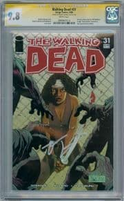 Walking Dead #31 CGC 9.8 Signature Series Signed Robert Kirkman Image AMC TV