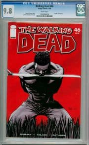 Walking Dead  #46 First Print CGC 9.8 Death Tyreese Image comic book