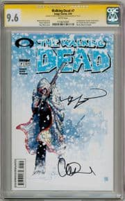 Walking Dead  #7 CGC 9.6  Signature Series Signed  x2 Robert Kirkman Adlard Art Begins