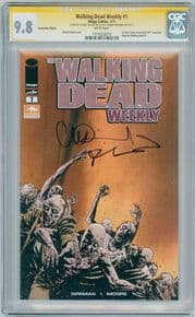 Walking Dead Weekly #1 Arizona Variant CGC 9.8 Signature Series Signed Robert Kirkman Charlie Adlard Image comic