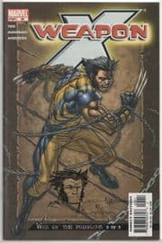 Weapon X #25 Signed Andy Park Remarked Wolverine Sketch Jay Company COA Ltd 25 Marvel comic book