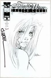 Witchblade #1 Michael Turner Sketch Variant Dynamic Forces Signed David Wohl COA #1 Top Cow comic