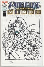 Witchblade Darkminds Convention Preview Signed Remarked Brian Ching Jay Company COA Ltd 100