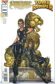 Witchblade Tomb Raider #1 White Michael Turner Variant Top Cow comic book