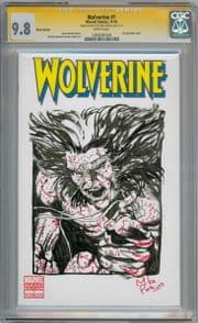 Wolverine #1 Blank CGC 9.8  Signature Series Signed Mike Perkins Weapon X Sketch Marvel Movie