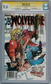 Wolverine #10 CGC 9.6 Signature Series Signed x3 Stan Lee Claremont Sabretooth Marvel