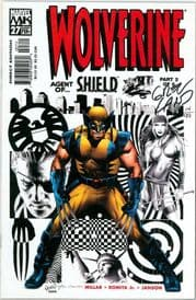 Wolverine #27 Dynamic Forces Signed Greg Land DF COA Ltd 99 Marvel comic book