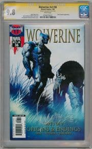 Wolverine #36 CGC 9.8 Signature Series Signed Joe Quesada Marvel comic book