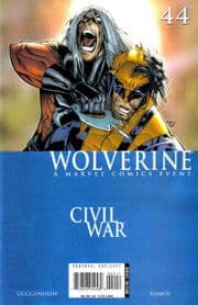 Wolverine #44 Civil War Marvel comic book