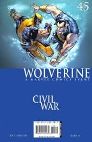 Wolverine #45 Civil War Marvel comic book