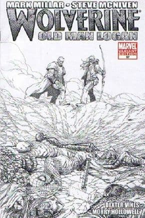 Wolverine #67 McNiven Retail Sketch Variant (2008) Old Man Logan Marvel comic book
