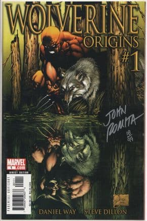 Wolverine Origins #1 Dynamic Forces Signed John Romita Sr DF COA Ltd 99 Marvel comic book