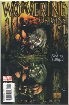 Wolverine Origins #1 Dynamic Forces Signed Len Wein DF COA #1 Marvel comic book