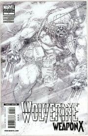 Wolverine Weapon X #1 Kubert 1:75 Retail Sketch Variant Cover Marvel comic book