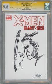 X-Men Giant-Size #1 Blank CGC 9.8 Signature Series Signed George Perez Wolverine Sketch Marvel comic