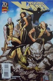 Young X-Men #10 Dynamic Forces Signed Billy Tan DF COA Ltd 25 Marvel comic book