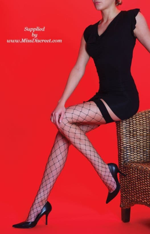 Sexy Black Whale Net Stockings - One Size