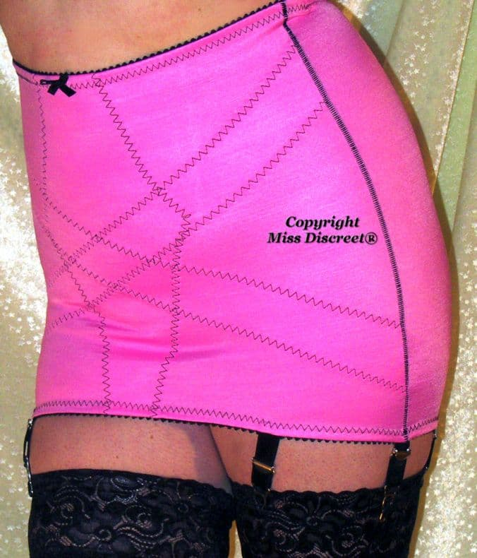 Vintage Style Roll On OBG - Open Bottom Girdle in Candy Pink