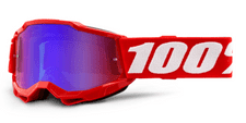 100% Accuri 2 Youth Goggle Red / Red/Blue Mirror Lens