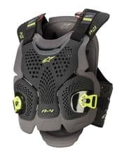 ALPINESTARS A4 MAX CHEST PROTECTOR BLACK/ANTHRACITE/YELLOW FLUO