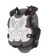 ALPINESTARS A4 MAX CHEST PROTECTOR WHITE/ANTHRACITE/RED