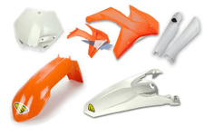 CYCRA PLASTIC KIT KTM 125 UP SX-F/XC-F/SX/XC 2011-12 STOCK INCLUDES FRONT PLATE & FORK GUARDS