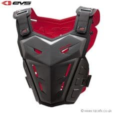 EVS Adult F1 Roost Guard Chest Body Armour Motocross Black