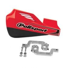 HAND GUARD ROCKS RED WITH ALUMINIUM MOUNTING KIT