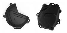 KTM SXF FC 450 16 17 18 Clutch Ignition Cover Protector Black