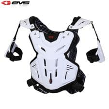 New 2014 EVS Youth F2 Roost Guard Chest Body Armour Motocross Enduro White