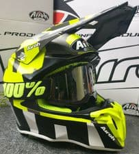 New 2020 Airoh Twist 2.0 Anth Yellow Helmet 100% Black Goggles Clear Lens
