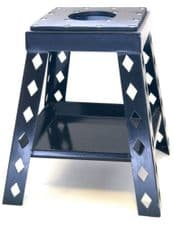 New ALLOY BOX BIKE STAND WITH TRAY BLACK Motocross Enduro