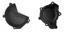 New KTM SX TC 125 150 16 17 18 Clutch & Ignition Cover Protector Black