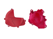 New Polisport Clutch Ignition Cover Protector Combo Red HONDA CRF 450 R X 17-18