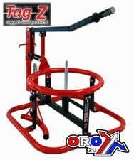 """New Tag PLATINUM MOUSSE Tyre Changer Frame Enduro 18""""-21"""" Wheels Red"""