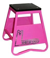 New TAG-Z HEAVY DUTY STEEL BOX STAND PINK Motocross Enduro