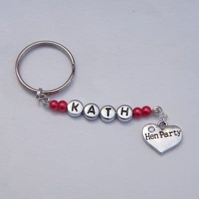 Hen Party Personalised Keyring Favours