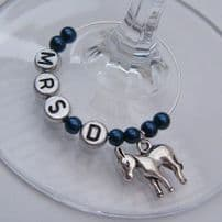 Donkey Wine Glass Charms