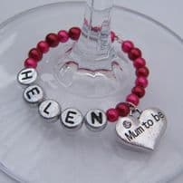 Mum To Be Wine Glass Charms