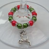 Reindeer Wine Glass Charms