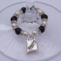Shopping Wine Glass Charms
