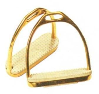 'Golden' stirrup with rubber tread