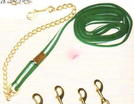Excellent quality nylon lead rope with chain