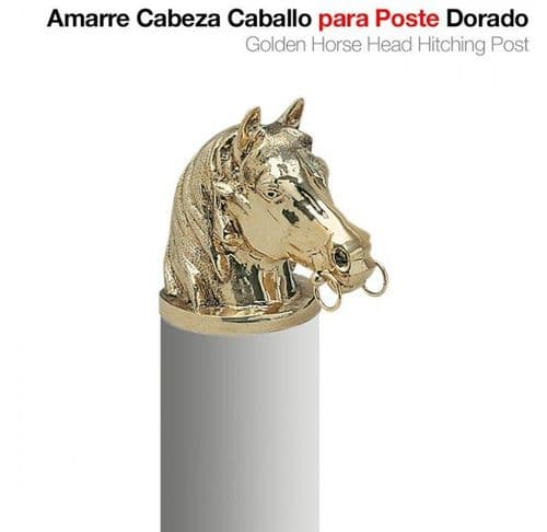 Horse head hitching post