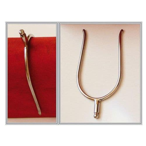 Portuguese/English 'slip on' stainless steel spur - with 'ball' rowel