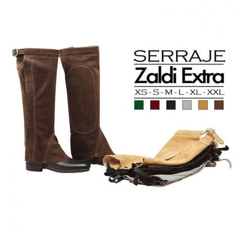 Suede leather half chaps