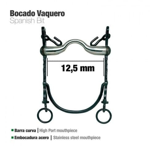 Vaquera bit - traditional black but with stainless steel mouthpiece