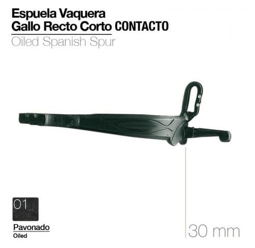 Vaquera spurs - straight shank, without rowel