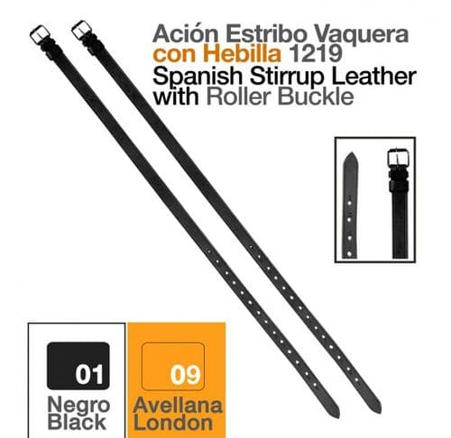 Vaquera stirrup leather - with buckles