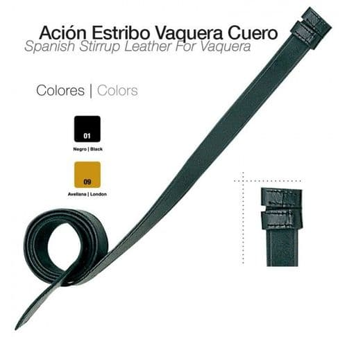 Vaquera stirrup leather - without buckles